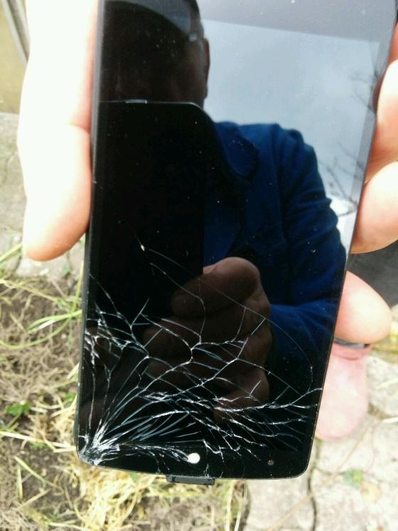 Nexus 5 mit Display Schaden